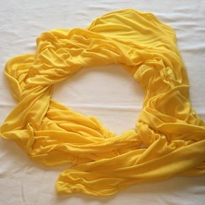 Accessories - Yellow soft jersey scarf